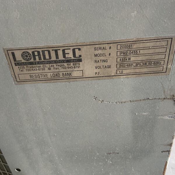 LOADTEC LOAD BANK 455 KW